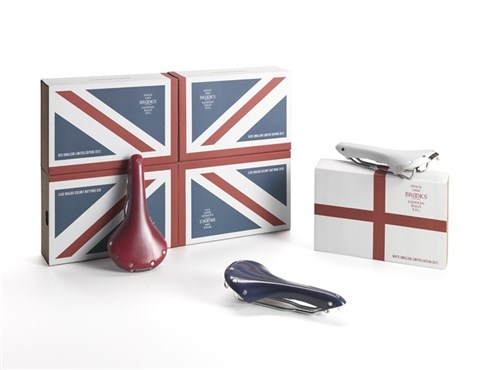 Image of Brooks Union Jack Swallows Limited Edition Saddle