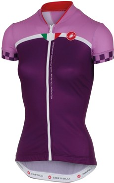 Image of Castelli Duello Womens Short Sleeve Cycling Jersey With Full Zip SS16