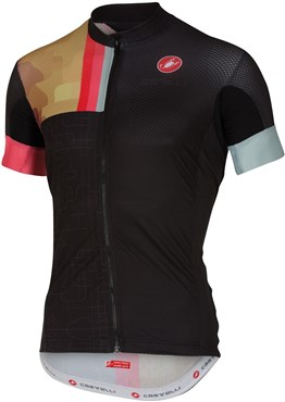 Image of Castelli Rodeo Short Sleeve Cycling Jersey With Full Zip SS16