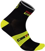 Image of Castelli Rosso Corsa 9 Cycling Socks AW16