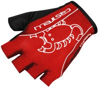 Image of Castelli Rosso Corsa Classic Short Finger Cycling Gloves SS17