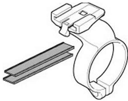 Image of Cateye Handlebar Bracket Centre Mount for Cordless 2/3/7 Computers