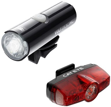 Image of Cateye Volt 200 XC Front / Rapid Rear USB Rechargeable Light Set