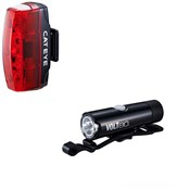 Image of Cateye Volt 80 Front / Rapid Micro Rear USB Rechargeable Light Set
