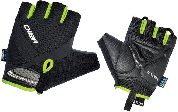 Image of Chiba Air Plus MTB Line Mitts Short Finger Gloves SS16