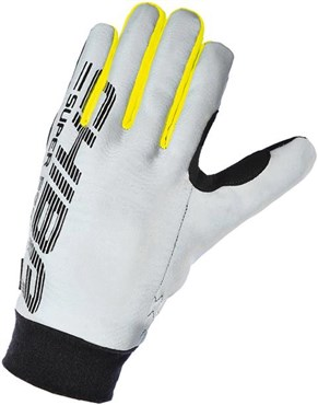 Image of Chiba Pro Safety Reflector Long Finger Cycling Gloves AW16