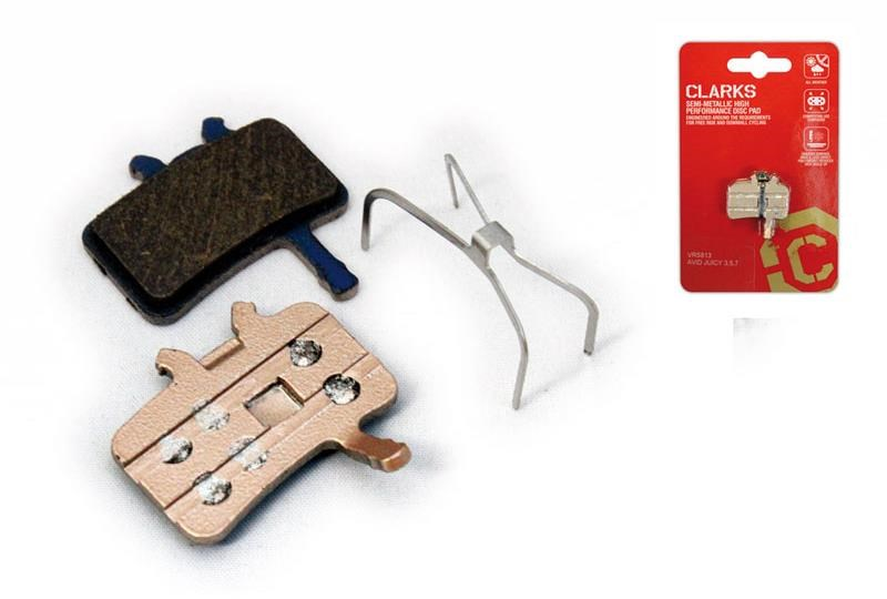Clarks Elite Semi-Metallic Disc Brake Pads for Avid BB7/Juicy, Spring Inc
