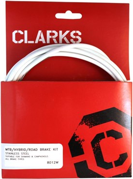 Image of Clarks Universal S/S Front & Rear Brake Cable Kit w/P2 Outer Casing