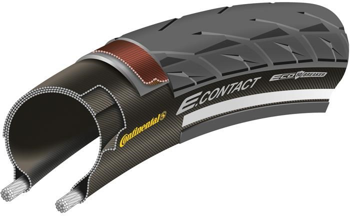 Continental E Contact Reflective 700c Hybrid Tyre