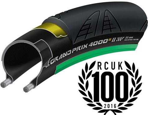 Image of Continental Grand Prix 4000 S II Black Chili Folding Road Tyre