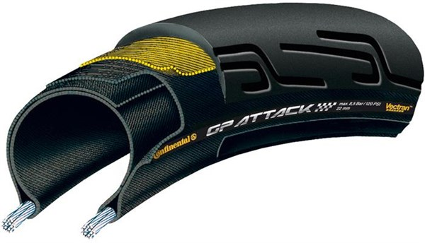 Image of Continental Grand Prix Attack II Front Black Chili - Vectran Tyre