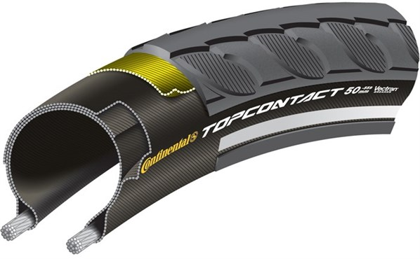 Image of Continental Top Contact II Reflective Folding MTB Hybrid Tyre