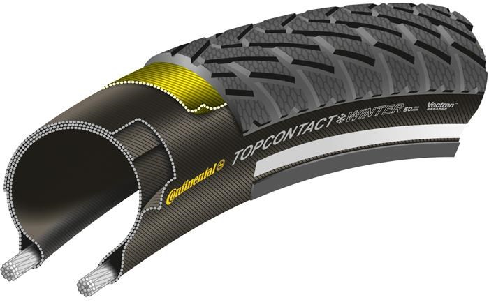 Continental Top Contact Winter II Premium Reflective 26 inch MTB Folding Tyre
