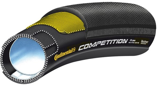 Image of Continental Tubular Competition Vectran Black Chilli Road Tubular Tyre
