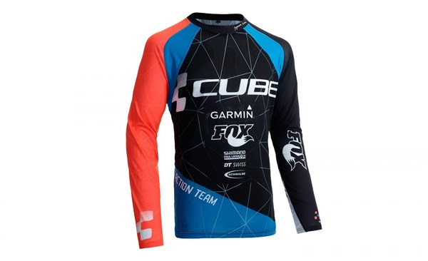 Image of Cube Action Roundneck Signature Long Sleeve Cycling Jersey