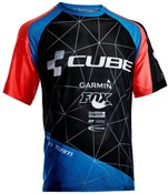 Image of Cube Action Roundneck Team Short Sleeve Cycling Jersey