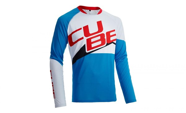 Image of Cube Action Team Roundneck Teamline Long Sleeve Cycling Jersey
