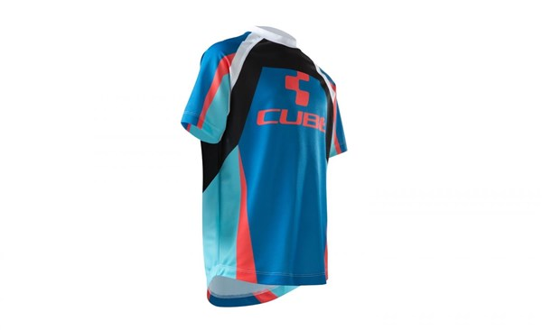 Image of Cube Junior Action Team Roundneck Short Sleeve Cycling Jersey