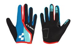 Image of Cube Junior Race Eazy Long Finger Cycling Gloves