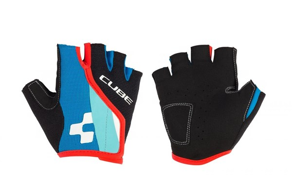 Image of Cube Junior Race Eazy Short Finger Cycling Gloves