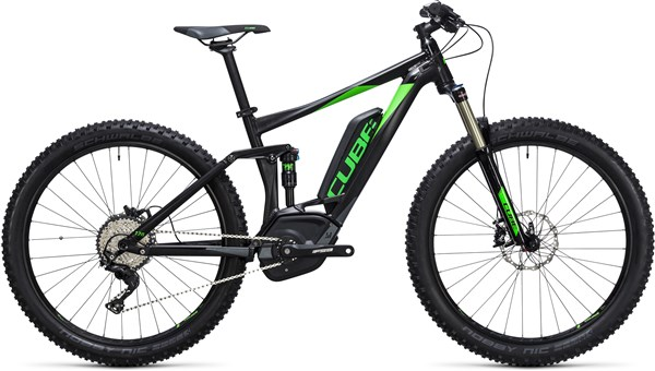 "Image of Cube Stereo Hybrid 120 HPA 27.5""+ Race 500 2017 Electric Bike"