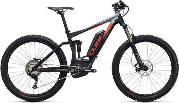 "Image of Cube Stereo Hybrid 140 HPA Pro 500 27.5""  2017 Electric Bike"