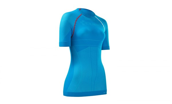 Image of Cube Undershirt Functional Teamline WLS Womens Short Sleeve Cycling Base Layer