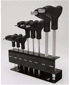 Image of Cyclepro T-Bar Ball End Hex Ket Set With Rack