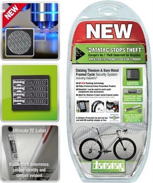 Image of Datatag Titanium/Bare Metal Security Identification System for Bicycles