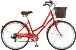 Image of Dawes Duchess Red Hearts Womens 2016 Hybrid Bike