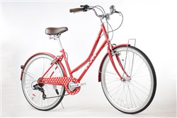 "Image of Dawes Duchess Red Hearts Womens - Ex Display - 17"" 2016 Hybrid Bike"