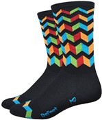 "Image of DeFeet Aireator Hi-Top 6"" Socks - Jitterbug"