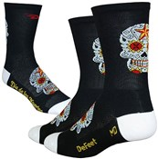Image of DeFeet Aireator Tall Sugarskull Socks