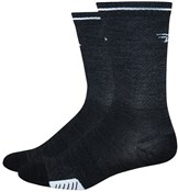 "Image of DeFeet Cyclismo Wool 5"" Socks - Reflective Stripe"