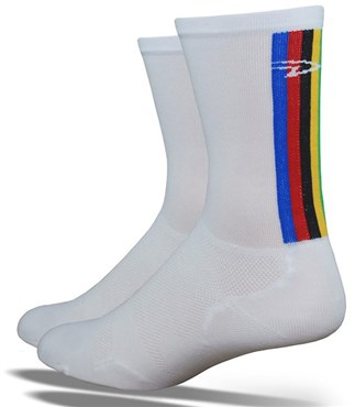 "Image of DeFeet Levitator Lite Tall 5"" World Champ Socks"