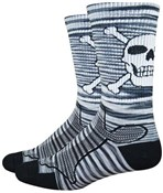 "Image of DeFeet Levitator Trail 6"" Bonehead Socks"
