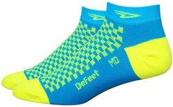 "Image of DeFeet Speede 1"" Hi-Vis D Logo Socks"