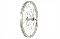 Image of DiamondBack Silver 3/8 inch Nutted With ALEX J303 36H Rim Front BMX Wheel