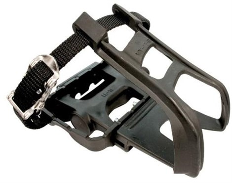 Image of ETC Resin MTB Pedals With Toe Clips and Straps
