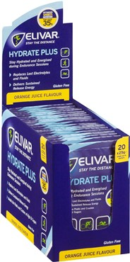 Image of Elivar Hydrate Plus Electrolyte and Sustained Energy Powder Drink - 20 x 25g