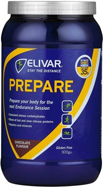 Image of Elivar Prepare Pre-Training Energy and Protein Powder Drink - 900g Tub