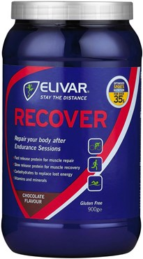 Image of Elivar Recover Post-Training Energy and Protein Powder Drink - 12 x 65g