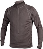 Image of Endura BaaBaa Merino Zip Neck Long Sleeve Cycling Jersey  SS16