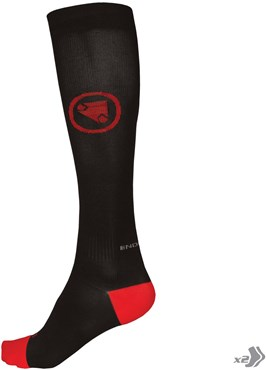 Image of Endura Compression Cycling Socks - Twin Pack AW16
