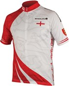 Image of Endura CoolMax Printed England Short Sleeve Cycling Jersey SS16