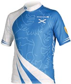 Image of Endura CoolMax Printed Scotland Short Sleeve Cycling Jersey SS16