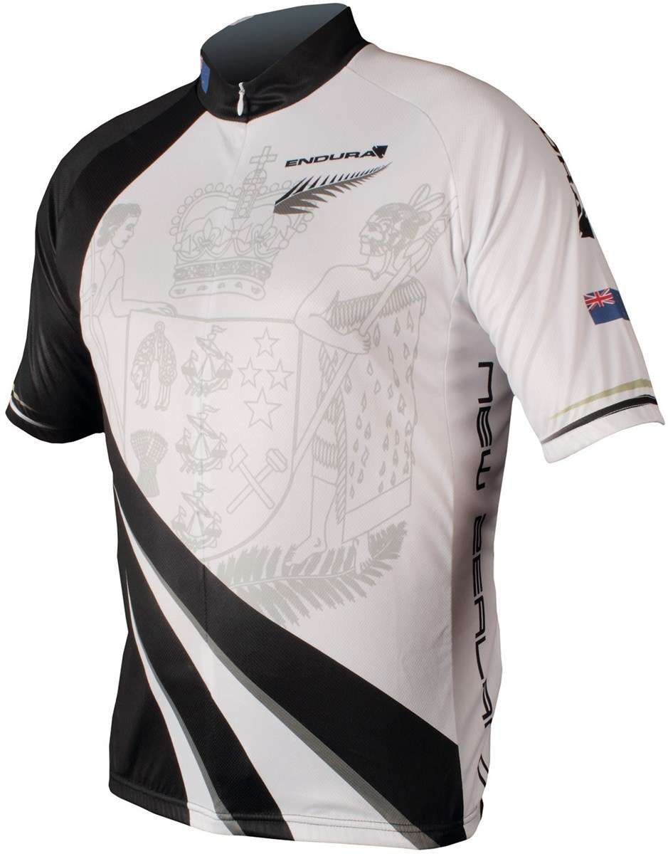 Endura Coolmax Printed New Zealand Short Sleeve Cycling Jersey SS16