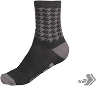 Image of Endura Houndstooth Cycling Socks - Twinpack AW16