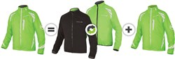 Image of Endura Luminite 4 in 1 Cycling Jacket With New Luminite II LED SS17