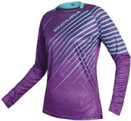 Image of Endura MT500 Print Womens Long Sleeve Trail Jersey SS17